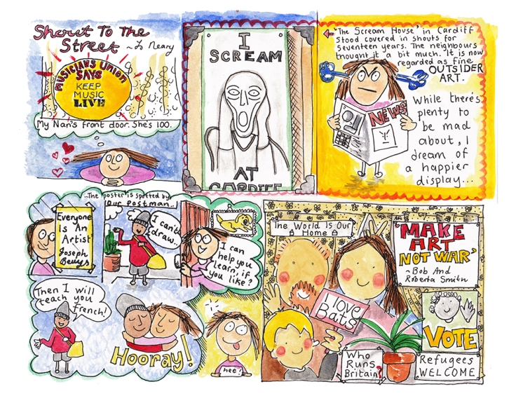Image by Joanna Neary - part of the DrawTheLine project at www.drawthelinecomics.com