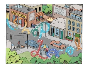 Image by Lucy Knisley - part of the DrawTheLine project at www.drawthelinecomics.com