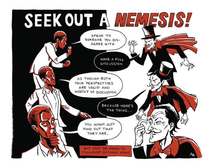 Image by John Riordan - part of the DrawTheLine project at www.drawthelinecomics.com