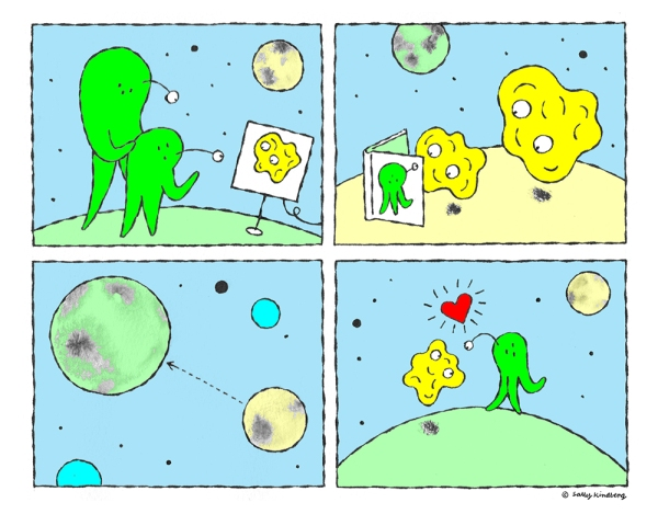 Image by Sally Kindberg - part of the DrawTheLine project at www.drawthelinecomics.com