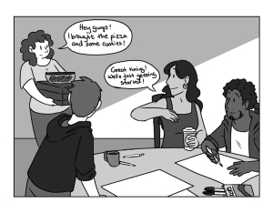 Image by Beth Zyglowicz - part of the DrawTheLine project at www.drawthelinecomics.com