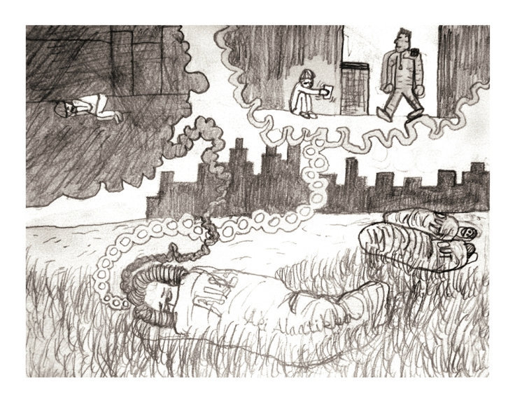 Image by Aki Alaraatikka - part of the DrawTheLine project at www.drawthelinecomics.com