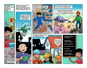 Image by Dave Windett, writer John Gatehouse - part of the DrawTheLine project at www.drawthelinecomics.com