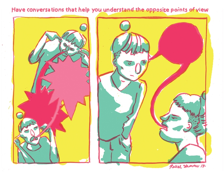 Image by Rakel Stammer - part of the DrawTheLine project at www.drawthelinecomics.com