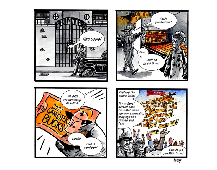 Image by Kel Winser - part of the DrawTheLine project at www.drawthelinecomics.com