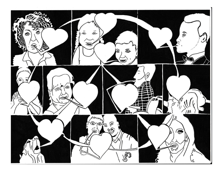 Image by Victor Szepessy - part of the DrawTheLine project at www.drawthelinecomics.com
