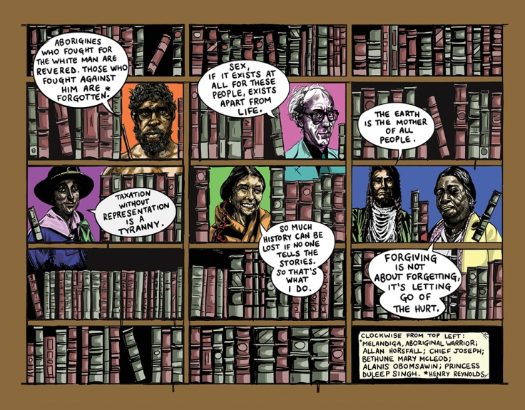 Image by Graeme McGregor - part of the DrawTheLine project at www.drawthelinecomics.com